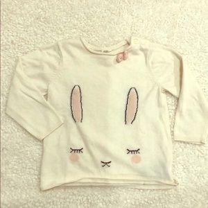 H&M girls bunny sweater